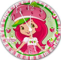 "Strawberry Shortcake wall Clock 10"" Room Decor"