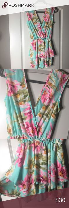 Floral Romper - NEVER worn! Tropical print floral romper. Never Worn. in perfect condition. style rack Other