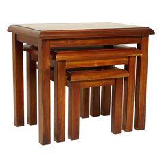 Winchester Acacia Dark Wood Nest of Tables | Dunelm
