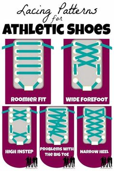 Eliminate like a million sneaker/fit problems by learning different ways to tie your sneakers. | 25 Crazy Clever Hacks That Actually Make Running Awesome