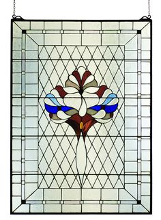 "32""W X 44""H Victorian Beveled Stained Glass Window"