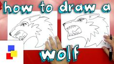 Learn how to draw a wolf! Drawing Journal, Drawing Lessons, Art Lessons, Art For Kids Hub, Art Hub, Painting For Kids, Drawing For Kids, Drawing Step, Toothless Drawing
