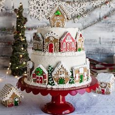 This showstopper Gingerbread Layer Cake by Shanna of @pineapple_and_coconut is almost too pretty to eat at your next holiday party. Almost. Find the recipe on Discover, a blog by World Market. (link in profile to shop) #DiscoverWorldMarket #Holiday #Recipes