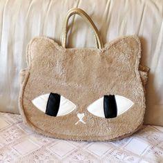 Bolsa Cara de Gato Peluciada Bege