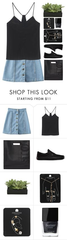 """16:25"" by unadores ❤ liked on Polyvore featuring WithChic, Calvin Klein Jeans, 3.1 Phillip Lim, Vans, Lux-Art Silks, Topshop and Butter London"