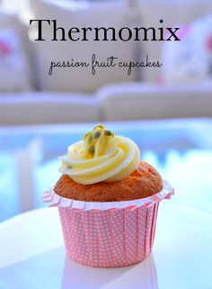 Thermomix Cupcakes with Passionfruit Icing - These Passion fruit cupcakes are light, fluffy and full of flavour and of course in the Thermomix they only take a few minutes to make. Thermomix Cupcakes, Thermomix Desserts, Fruit Cupcakes, Cupcake Cakes, Cup Cakes, Best Junk Food, Sweet Cooking, Sweets Cake, Healthy Snacks For Kids