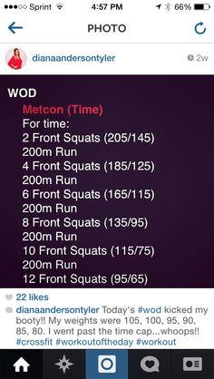 WOD front squats