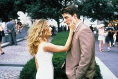 """Carrie: [quoting """"The Way We Were""""] Your girl is lovely, Hubbell.  Mr. Big: I don't get it.  Carrie: And you never did."""