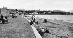 Old travel Blog photograph of people on the West Beach in Musselburgh, Scotland . Musselburgh is the largest settlement in East Lothian, on... Photographs Of People, Old Photographs, Photos, British Isles, Dolores Park, Tours, History, Perth, Blog