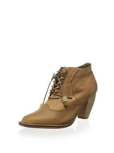 J Shoes Women's Sidesaddle Lace Up Ankle Bootie (Mid Brown) myhabit.com $75