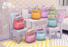 Fjällräven Kånken Backpacks in PastelI made more recolors of EA's backpack. Hope you like these little buddies. Mesh by EA, standalone. Comes in 7 pastel colors. ♦ DOWNLOAD ♦ at [Dropbox] or...