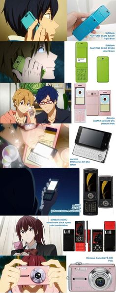Anime makes me want to have a flip phone again................Do they sell them in America? Maybe the camera... :(