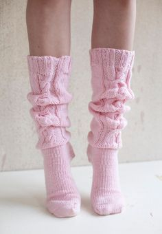 Cozy Pink Knee Socks
