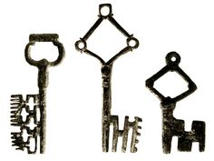 Medieval European Keys (14th and 15th Century) Credit: Collection of the Cooper-Hewitt, National Design Museum/Smithsonian Libraries.