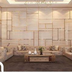 Living room design - Best Home Idea Bedroom Bed Design, Home Room Design, Home Interior Design, Living Room Designs, Living Room Decor, Interior Modern, Modern Luxury, Drawing Room Interior, Drawing Room Wall Design