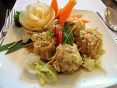 Enjoy our tasty #Classic #ThaiFood in Mittagong NSW Australia:   *Kanom Jeeb (Dim Sim) (4Pc)* - A Tasty Combination of Steamed Minced Chicken and Prawns Stuffed Pasty.  Check out our #ThaiDishes: