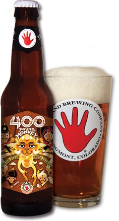 400 Pound Monkey Beer Bottle & Glass