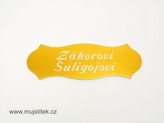 Hliníkový štítek se jménem na vchodové dveře od domu. www.mujstitek.cz