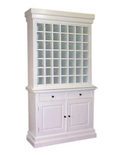 SCA009 Wine Cabinet 49 Bottles . H.205 W.110 D.40 Cm. Material : Mahogany Wood. Finish : Paint. Price : Rp. 4.747.200
