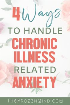 My Chronic Illness related Anxiety is one of my biggest obstacles. I wanted to share 4 things that I do to handle my anxiety symptoms. Managing anxiety is important to managing your Chronic Illness. Chronic Migraines, Chronic Fatigue, Chronic Pain, Fibromyalgia, Anxiety Tips, Stress And Anxiety, Anxiety Help, Mental Illness