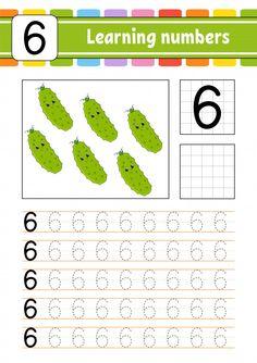 Trace And Write Worksheet Number Six Numbers Preschool, Free Preschool, Preschool Curriculum, Learning Numbers, Preschool Learning, Preschool Activities, Teaching Kids, Nursery Worksheets, Kids Math Worksheets