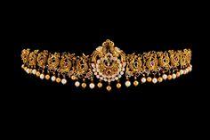 Naqshi Vadanam, Temple Jewelry, Pachi Work, Flat Diamonds (Polki). Indian Jewelry, Telugu bridal jewelry.