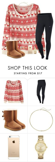 """""""Only 22 days till Christmas and 21 till my birthday"""" by halamasa ❤ liked on Polyvore featuring beauty, NIKE, UGG, Dogeared and Kate Spade"""