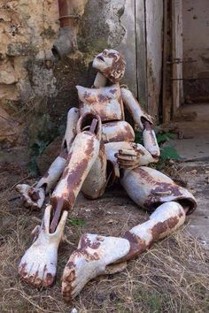 Ceramic human figure Abandoned Buildings, Abandoned Places, Creepy, Fantasy Art, Leave Behind, Ghost Towns, Macabre, Tumblr Posts, Nostalgia