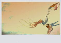 """Ilustración cuento """"Ceremonia del té"""" de Jorge Bucay. 2014 Por Verónica Jimeno Valdepeñas"""