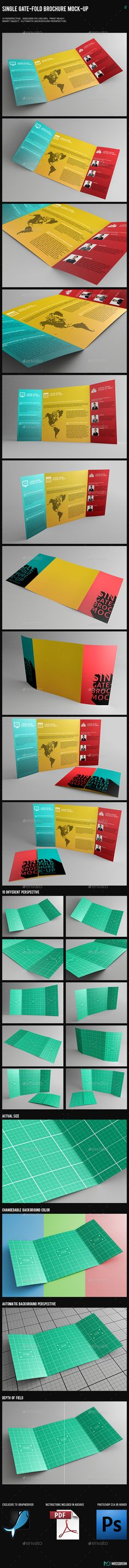 A Gatefold Brochure Mockup  Download HttpGraphicriverNet