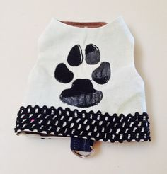XS Paw Print Harness Vest  Yorkie Small Dog by RocknHotdog on Etsy
