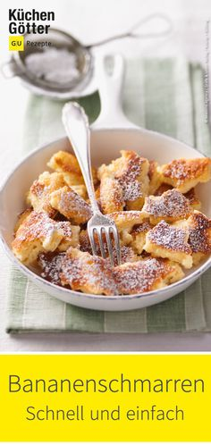 Kaiserschmarrn differently our delicious recipe for banana pancakes. The pos . - Kaiserschmarrn differently our delicious recipe for banana pancakes. The post Bananenschmarren appe - Easy Smoothie Recipes, Banana Recipes, Easy Healthy Recipes, Snack Recipes, Dessert Recipes, Easy Snacks, Healthy Snacks, Easy Meals, Winter Desserts