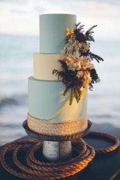 seaside-inspired wedding cake                                                                                                                                                                                 More