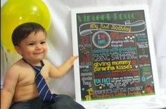 Zoo themed chalkboard poster for first birthday photoshoot - DIY Printable File