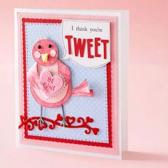Love Birds Card:  20 valentine cards to make for kids and adults