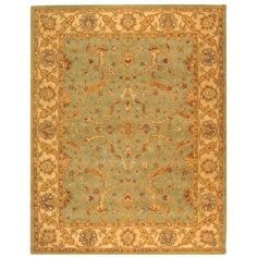 Safavieh Antiquity Teal/Beige 9 ft. 6 in. x 13 ft. 6 in. Area Rug-AT311B-10 - The Home Depot