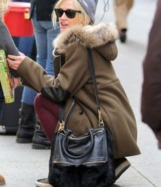 359db0ed4be0 Ashlee Simpson with Givenchy Pandora Mink Bag Pandora Bag