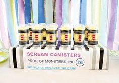 Monsters Inc. Themed Birthday Party // Hostess with the Mostess® Monster University Birthday, Monster Inc Party, Monster Birthday Parties, 3rd Birthday Parties, 2nd Birthday, Birthday Ideas, Little Man Party, Monsters Inc, Mo S