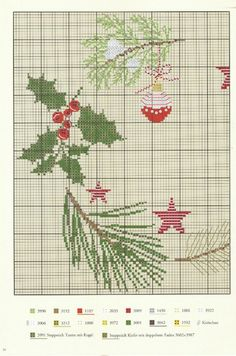 Xmas Cross Stitch, Cross Stitch Charts, Cross Stitching, Cross Stitch Embroidery, Cross Stitch Patterns, Christmas Tree Pattern, Christmas Cross, Theme Noel, Christmas Embroidery
