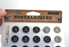 Black Typewriter Alphabet Stickers Sticko, Circle Black Alphabet, Retired, Rebecca Sower Designs, PHoto Safe, Scrapbook Supply, Card Craft by MyCreativePossession on Etsy