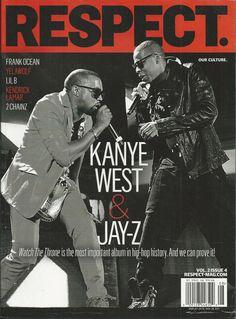 Respect Magazine Kanye West Jay-Z Frank Ocean Yelawolf Lil B Kendrick Lamar 2011 Jay Z Kanye West, Yelawolf, Frank Ocean, Kendrick Lamar, Respect, Hip Hop, Magazine, Hiphop, Magazines