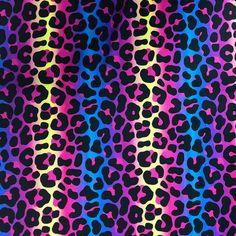 The Vintage Sweetheart Multicoloured Leopard Cat Print 100% Cotton (VS Groovy Bengal Leopard - 1 METRE PIECE)