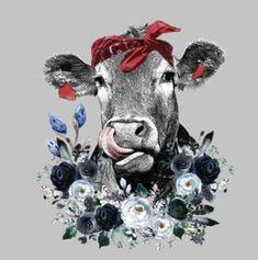 Waterslide Decals Heifer Cow tongue licking nose transfer ONE image PRINTED waterslide paper for gli Heifer Cow, Slide Images, Cow Painting, Cow Art, Water Slides, Blue Flowers, Art Drawings, Wall Art, Wallpaper