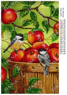 Cross Stitch Bird, Cross Stitch Animals, Cross Stitch Flowers, Cross Stitch Designs, Cross Stitch Patterns, Knitting Charts, Rug Hooking, Crochet Stitches, Hand Embroidery