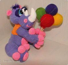 Мастер-класс Вязание крючком Поздравительный носорог по имени Гоша Пряжа фото 2