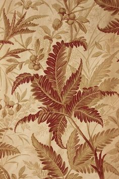 Wonderful design ~ 19th century antique French printed fabric curtain panel ~ ideal for French country interior and design reproduction ~ LOVELY brown muted natural tones ~ www.textiletrunk.com