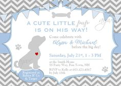 24 best puppy dog baby shower theme images on pinterest dog baby dog baby shower invitation boy puppy baby shower invitation filmwisefo