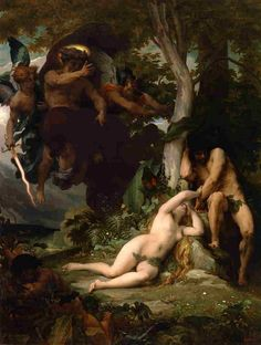 Alexandre Cabanel, Paradise Lost (TheExpulsionof Adam and Eve from the Garden of Paradise), 1867