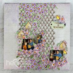 Olive And Vine, Clematis Flower, Handmade Scrapbook, Handmade Tags, Flower Center, Tag Design, Heartfelt Creations, Stamping Up, Bird Houses