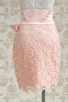 Ladies Sweet Sunflower Embroidery Pink Skirt. Sizes S to XL. #skirt #dresses #fashion #ladies #pink #lace